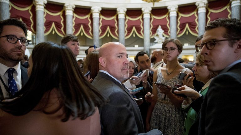 U.S. Rep. Tom MacArthur, a South Jersey Republican, says Obama-era appointees may be deliberately slowing down the approval process for Trump nominees. (AP Photo/Andrew Harnik)