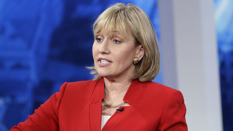 New Jersey Lt. Gov. Kim Guadagno says any major changes to the state's health care system should involve more stakeholder discussions. Guadagno, the GOP candidate for governor, any change should not be part of budget negotiations. (AP Photo/Julio Cortez, Pool, File)