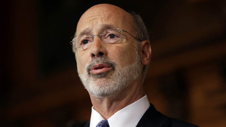 Pennsylvania Gov. Tom Wolf anticipates 600 layoffs among the state's unemployment compensation workers.(AP file photo)