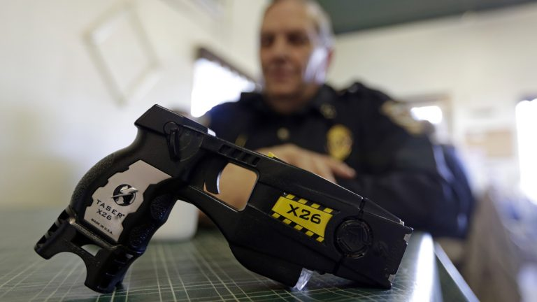 A new study finds that stun guns affect brain function for about an hour after the 50,000-volt shock is administered. (AP file photo)