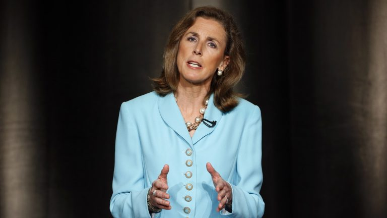 Katie McGinty, Pennsylvania Gov. Tom Wolf's chief of staff, is stepping down to likely become a candidate for the U.S. Senate. McGinty speaks during a Pennsylvania Democratic gubernatorial primary debate last year. (AP file photo)