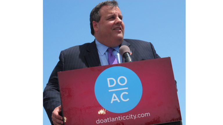 In 2012, Gov. Chris Christie appeared in Atlantic City as a booster. This week, the governor did not sign a financial rescue plan endorsed by the struggling city's emergency manager. (AP file photo)