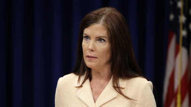 At a Wednesday news conference, Pennsylvania Attorney General Kathleen Kane called on Montgomery County Judge William Carpenter to authorize the release of pornographic emails she says are being suppressed by those who want to force her from office. Carpenters says Kane has not filed