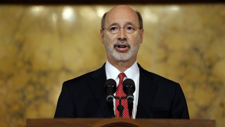 Pennsylvania Gov. Tom Wolf announces last month that he would free