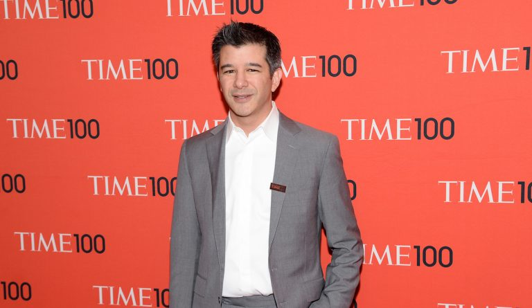 Uber CEO Travis Kalanick arrives at the 2014 TIME 100 Gala held at Frederick P. Rose Hall, Jazz at Lincoln Center on Tuesday, April 29, 2014 in New York. (Photo by Evan Agostini/Invision/AP)
