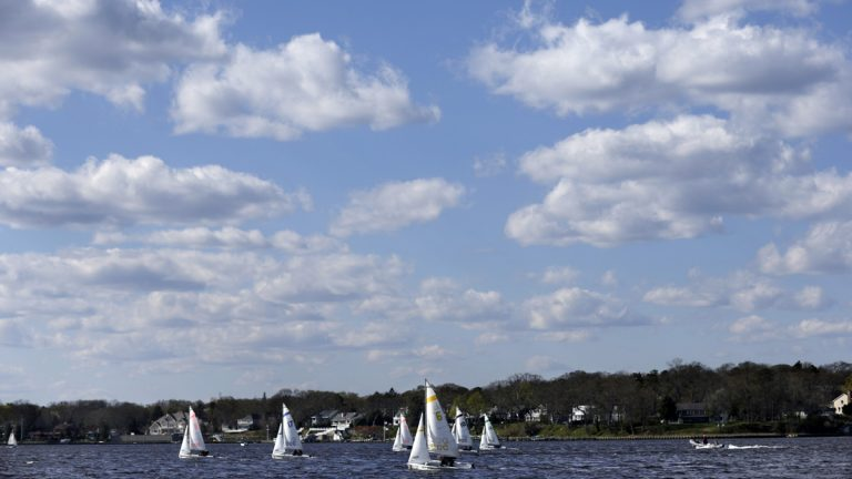 Boaters sail  off Pine Beach, New Jersey. Sixteen percent of Garden State residents polled recently 16 percent say their favorite thing about the state is something to do with the New Jersey Shore, the beaches, or the ocean. (AP file photo)