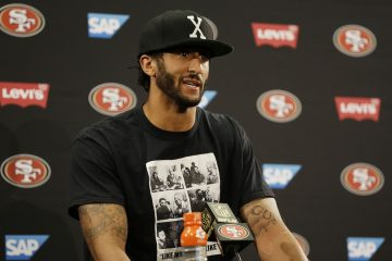 San Francisco 49ers quarterback Colin Kaepernick answers questions at a news conference after an NFL preseason football game against the Green Bay Packers Friday, Aug. 26, 2016, in Santa Clara, Calif.  (AP Photo/Ben Margot)
