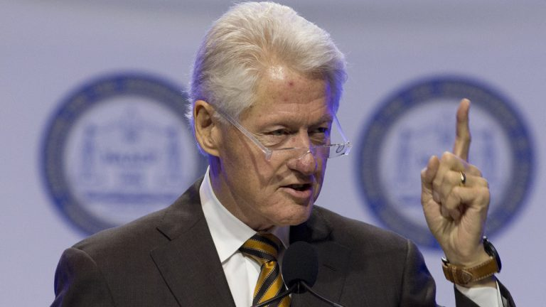 Former President Bill Clinton speaks during the NAACP's 106th Annual National Convention Wednesday in Philadelphia. (Matt Rourke/AP Photo)