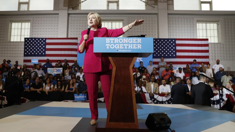 Democratic presidential candidate Hillary Clinton is leading Republican Donald Trump by 8 percentage points in Pennsylvania