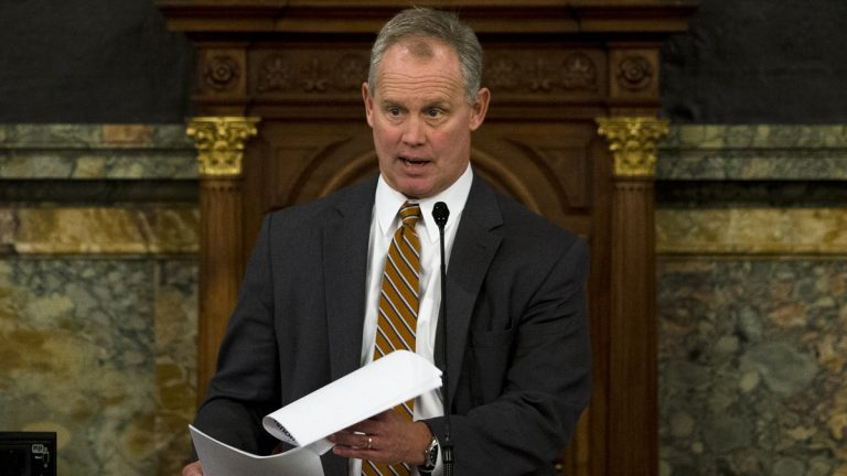 Republican Pennsylvania Rep. Mike Turzai was reappointed to his second term as House Speaker Tuesday in Harrisburg. (AP file photo)