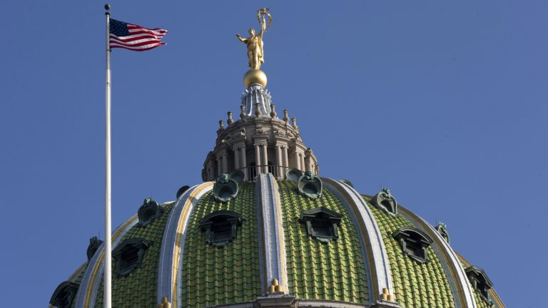 After a Pennsylvania Senate committee approved it Sunday, a measure that calls for overhauling the state's two heavily indebted public pension systems is expected to be put to a vote Monday at the Capitol in Harrisburg. (AP file photo)