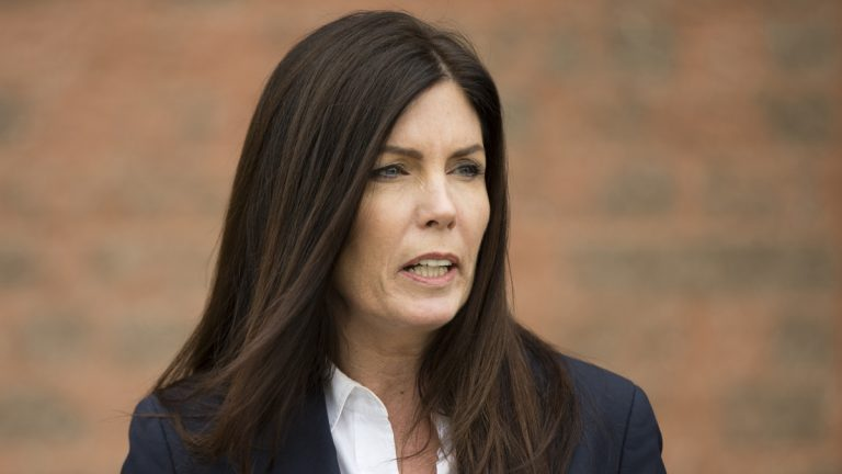 Pennsylvania Attorney General Kathleen Kane says she will not resign if charged with violating grand jury secrecy rules. (AP file photo)