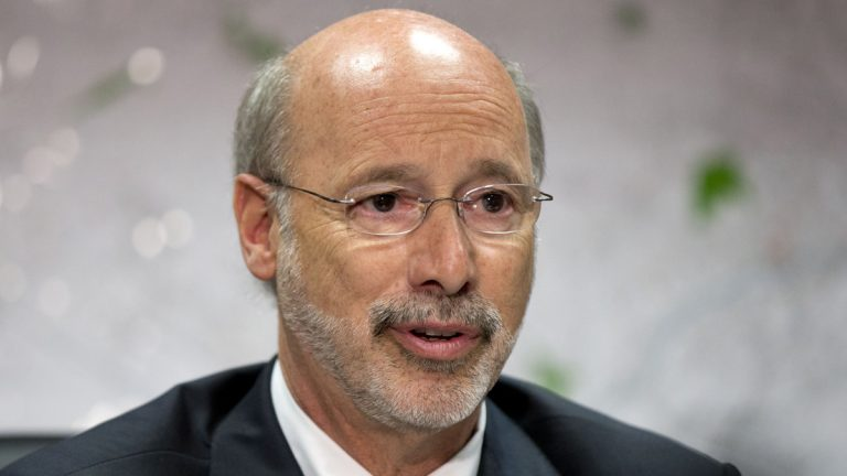 Pennsylvania Gov. Tom Wolf speaks during a news conference, Tuesday in Norristown. Pennsylvania is a month and a half into its new fiscal year without a state budget. (AP Photo/Matt Rourke)