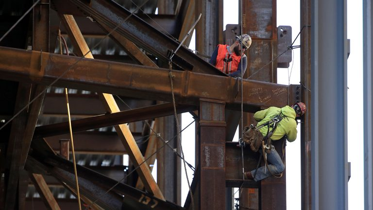 Job growth is a primary driver of the housing market. In this Oct. 3, 2015 file photo, iron workers help build the Comcast Innovation and Technology Center in Philadelphia. (AP Photo/Matt Rourke)