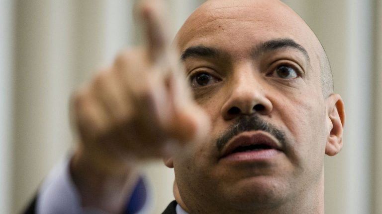 Philadelphia District Attorney Seth Williams gestures during a news conference Thursday, March 19, 2015, in Philadelphia. (AP Photo/Matt Rourke)