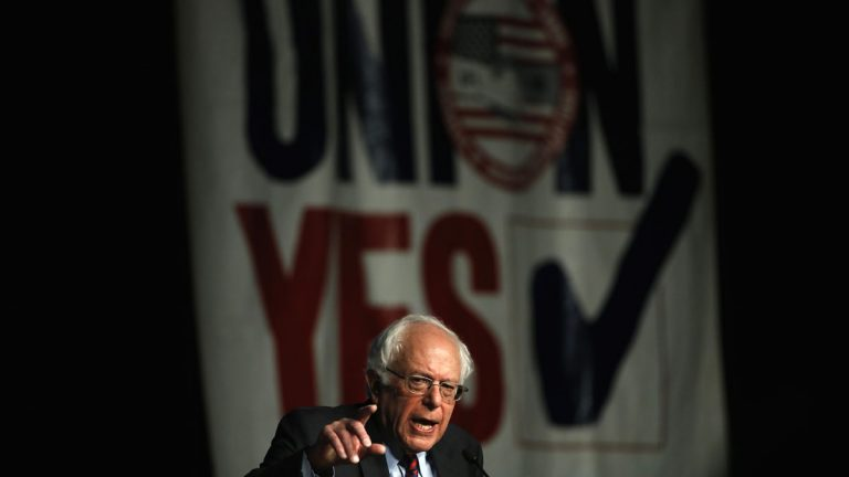 Democratic presidential candidate. Bernie Sanders speaks during a campaign stop Thursday at the Pennsylvania AFL-CIO Convention in Philadelphia. (Matt Rourke/AP Photo)
