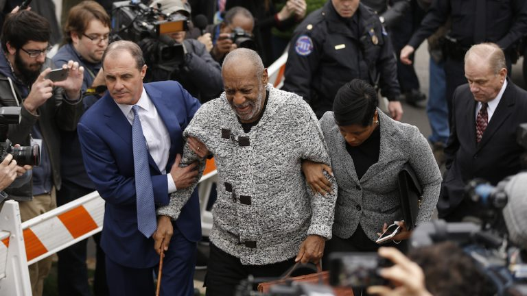 Bill Cosby arrives at court to face a felony charge of aggravated indecent assault Wednesday, Dec. 30, 2015, in Elkins Park, Pa. (AP Photo/Matt Rourke)