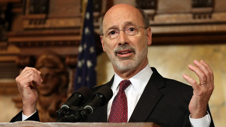 Pennsylvania Gov. Tom Wolf is warning of the budget stalemate's effects on the state's credit rating. (AP photo/Chris Knight)