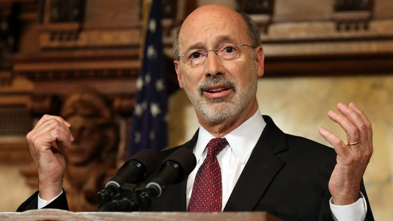 Pennsylvania Gov. Tom Wolf says budget talks with Republican legislative leaders have been 'productive.' (AP file photo)