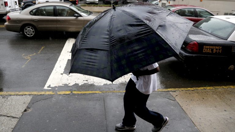 Heavy rains deluged the region Monday, but — overall — the Delaware Valley has missed the most extreme weather this summer. (AP Photo/Julio Cortez)