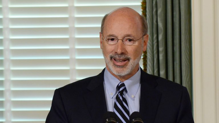 Pennsylvania Gov. Tom Wolf says he would have liked to include a personal income tax hike and a tax on gas drillers in the budget deal, but those measures lack support in the Legislature. (AP file photo)