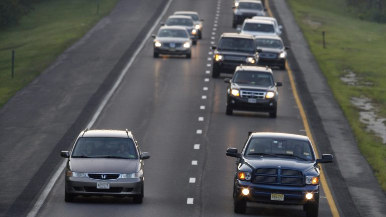 The Westbound lanes of the Atlantic City Expressway, prior to expansion (Mel Evans/AP Photo, file)