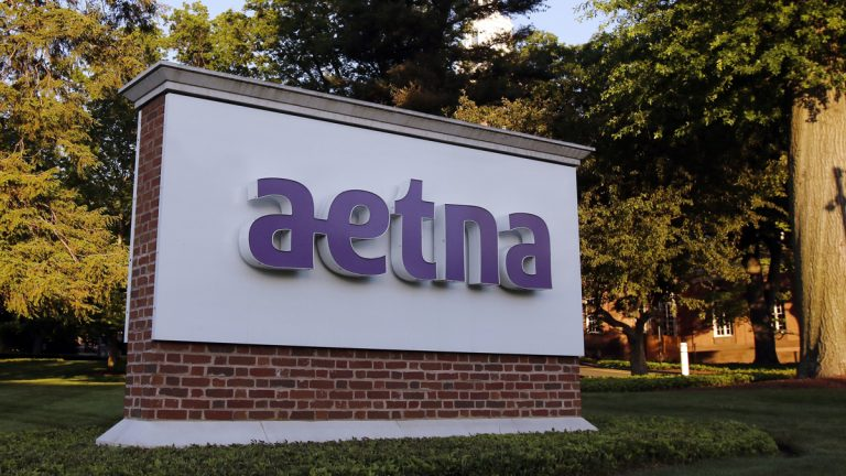 A sign stands on the campus of the Aetna headquarters, Thursday, June 1, 2017, in Hartford, Conn. (Bill Sikes/AP Photo)