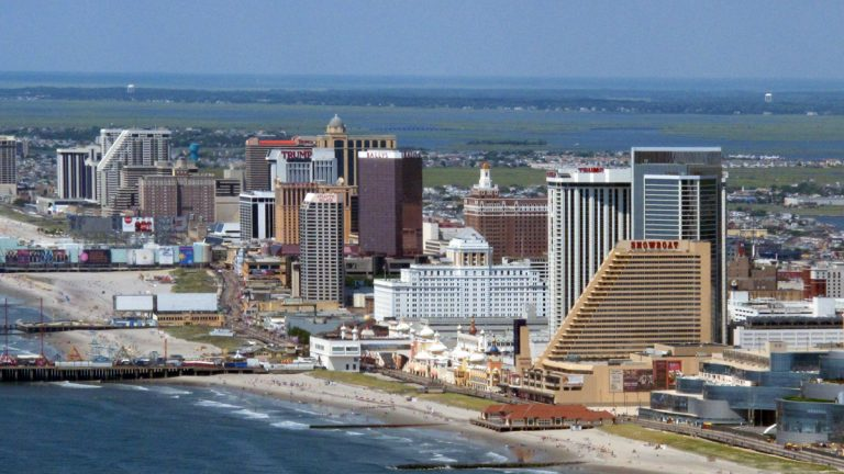 An view of Atlantic City
