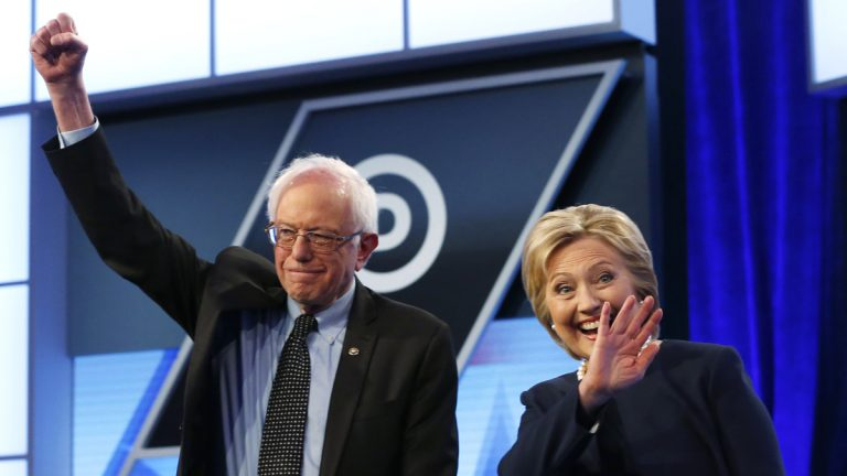 Democratic presidential candidates  Bernie Sanders and Hillary Clinton are battling for the support of black voters. (Wilfredo Lee/AP Photo)