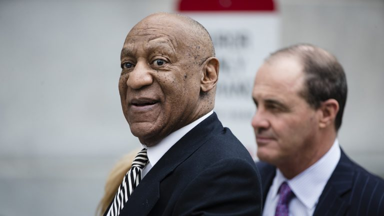 In this April 3, 2017 file photo, Bill Cosby departs the Montgomery County Courthouse after a pretrial hearing in his sexual assault case in Norristown, Pa. Cosby's