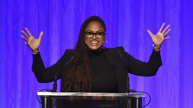 Ava DuVernay speaks at the Hollywood Foreign Press Association Grants Banquet at the Beverly Wilshire Hotel on Wednesday, Aug. 2, 2017, in Beverly Hills, Calif. (Jordan Strauss/Invision/AP)