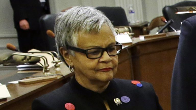 U.S. Rep. Bonnie Watson Coleman of New Jersey urged her colleagues in the House to take action on gun-safety legislation rather than staging moments of silence for victims of mass shootings.  (Mel Evans/AP Photo)