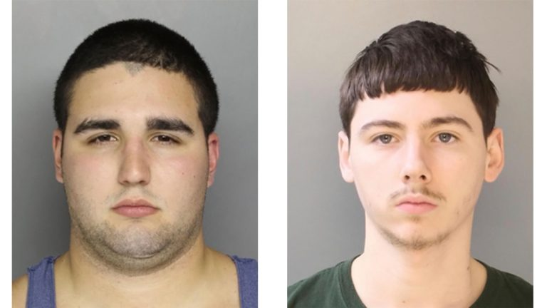 These undated photos show Cosmo DiNardo, of Bensalem, Pa., an admitted drug dealer with a history of mental illness (left); and Sean Kratz of Philadelphia (Bucks County District Attorney's Office via AP)