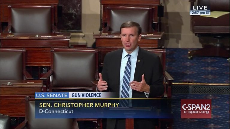 This frame grab provided by C-SPAN shows Sen. Chris Murphy