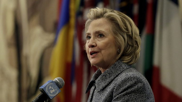 Hillary Rodham Clinton answers questions at a news conference at the United Nations, Tuesday, March 10, 2015.   Clinton conceded that she should have used a government email to conduct business as secretary of state, saying her decision was simply a matter of 'convenience.'  (Richard Drew/AP Photo)