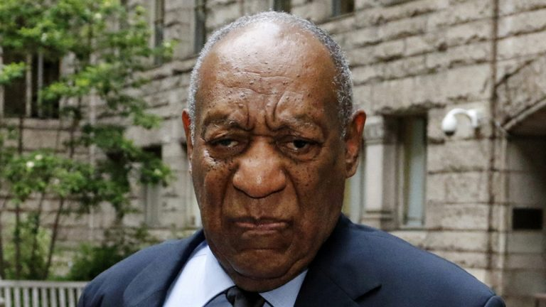 Bill Cosby listens as he pauses in the courtyard of the Allegheny County Courthouse  on the third day of jury selection in his sexual assault case, Wednesday, May 24, 2017, in Pittsburgh. The case is set for trial June 5 in suburban Philadelphia. (Gene J. Puskar/AP Photo)