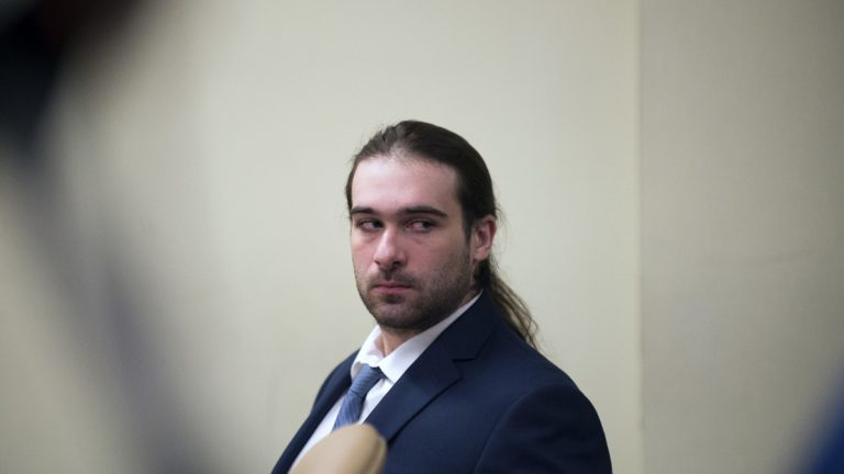 David Creato appears in court during his trial Tuesday, May 23, 2017, in Camden, N.J. Creato is accused of killing his 3-year-old son in October 2015. (Joe Lamberti/Camden Courier-Post via AP, Pool)