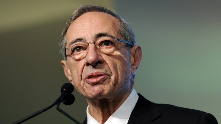 Former New York Gov. Mario Cuomo on Tuesday, Oct. 18, 2011 in New York. (Evan Agostini/AP Photo)