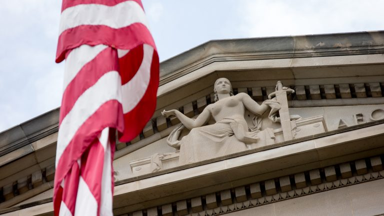 Robert F. Kennedy Department of Justice Building in Washington. (Andrew Harnik/AP Photo)