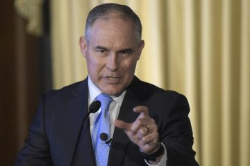 Environmental Protection Agency Administrator Scott Pruitt has earned criticism from Democrats and some Republicans for barring scientists who have received grants from the EPA from serving as agency advisers. (Susan Walsh/AP Photo)