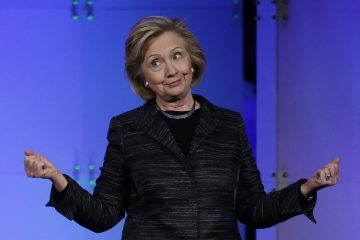 Hillary Rodham Clinton jokes with the crowd during a keynote address at the Watermark Silicon Valley Conference for Women, Tuesday, Feb. 24, 2015, in Santa Clara, Calif. (Marcio Jose Sanchez/AP Photo)