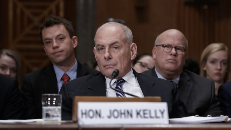 Homeland Security Secretary John Kelly appears before the Senate Homeland Security and Governmental Affairs Committee to advance President Donald Trump's border security agenda, on Capitol Hill in Washington, Wednesday, April 5, 2017. (J. Scott Applewhite/AP Photo)