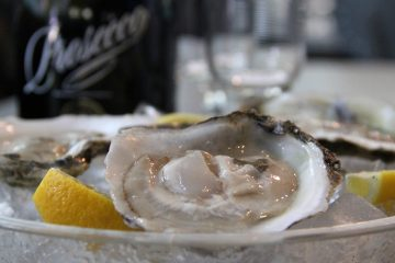 Oysters are widely believed to have aphrodisiac properties. Prosecco is recommended as the perfect accompaniment to a romantic dinner. (Emma Lee/for NewsWorks)