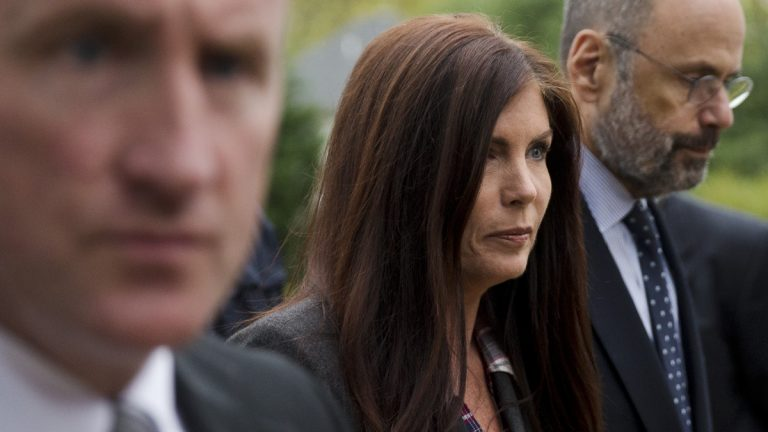Pennsylvania Attorney General Kathleen Kane is pictured here as she arrives for her arrangement before a district judge, Thursday, Oct. 1, 2015, in Collegeville, Pa. (Matt Rourke/AP Photo)