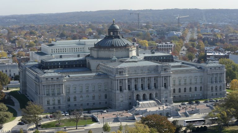 A view of the Library of Congress from the top of the Capitol in Washington, Tuesday, Nov. 15, 2016. (Susan Walsh/AP Photo)