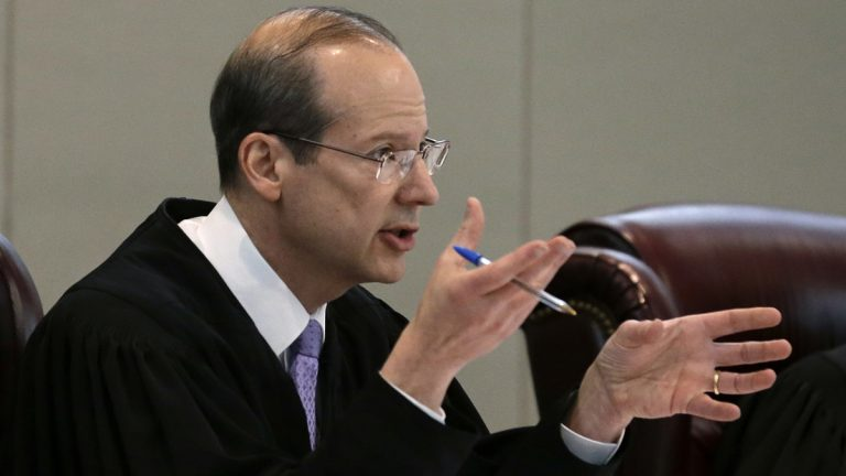 New Jersey Supreme Court Chief Justice Stuart Rabner is pictured  in Trenton, N.J., in this Wednesday, May 6, 2015 photograph (Mel Evans/AP Photo)
