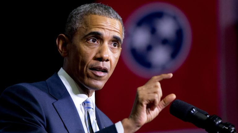 This Jan. 9, 2015, file photo shows President Barack Obama speaking at Pellissippi State Community College, in Knoxville, Tenn. President Obama is turning to his biggest television audience of the year to pitch tax increases on the wealthiest Americans and put the new Republican Congress in the position of defending top income earners over the middle class. (Carolyn Kaster/AP Photo, File)