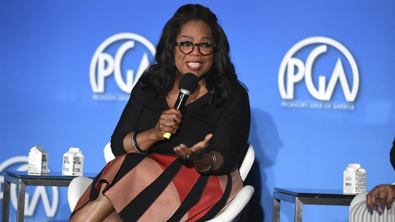 Oprah Winfrey attends the 9th annual Produced By Conference at Twentieth Century Fox on Saturday, June 10, 2017 in Los Angeles. (Photo by Jordan Strauss/Invision for Producers Guild of America/AP Images)