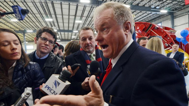 Scott Wagner, a Republican state senator from York County and owner of trash hauling firm Penn Waste, speaks to reporters at a Penn Waste facility after formally announcing that he will run for Pennsylvania governor in 2018, Wednesday, Jan. 11, 2017 in Manchester, Pa. (Marc Levy/AP Photo)