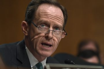 Sen. Pat Toomey, R-Pa., is shown speaking on  speaks on Capitol Hill in January 2015. (Susan Walsh/AP Photo, file)